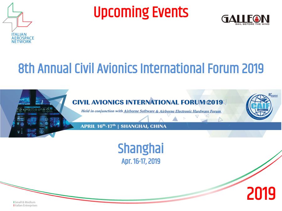 2019 (Apr. 16-17) - 8th Annual Civil Avionics International Forum