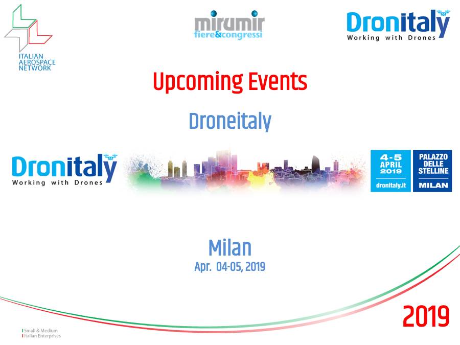 Drone Italy 2019 - Milan - 4/5 April