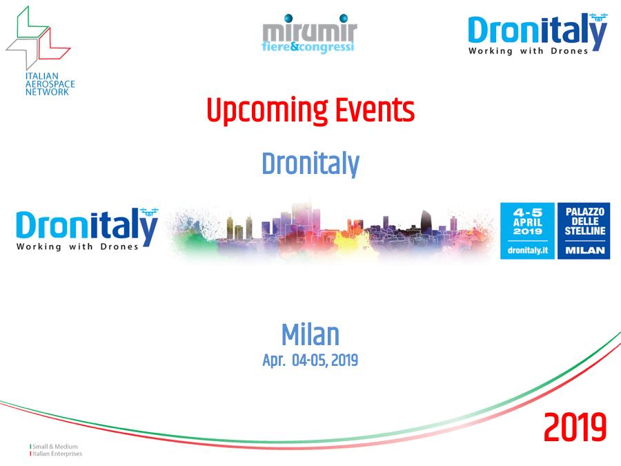 DronItaly Milan April 4 and 5